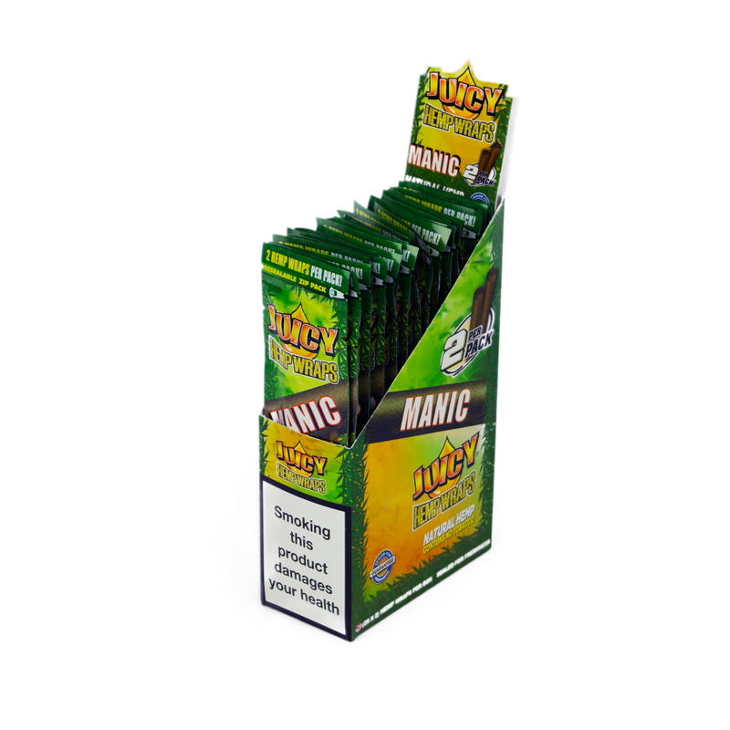 Juicy Jay's Manic Hemp Wraps (Box of 25) - DabShack Distribution