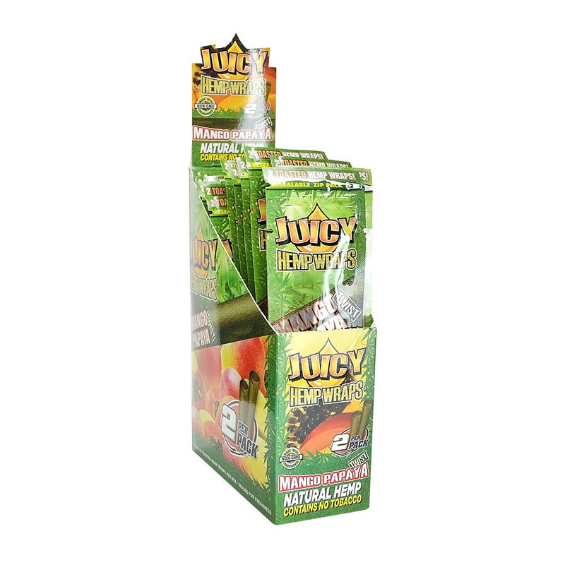 Juicy Jay's Mango Papaya Hemp Wraps (Box of 25) - DabShack Distribution