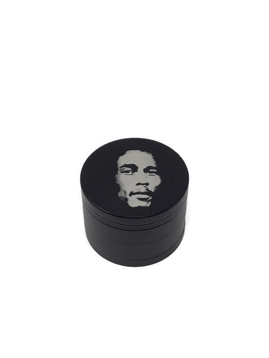 Grinder 4-Part Diamond Teeth Bob Marley Black - The Dab Shack
