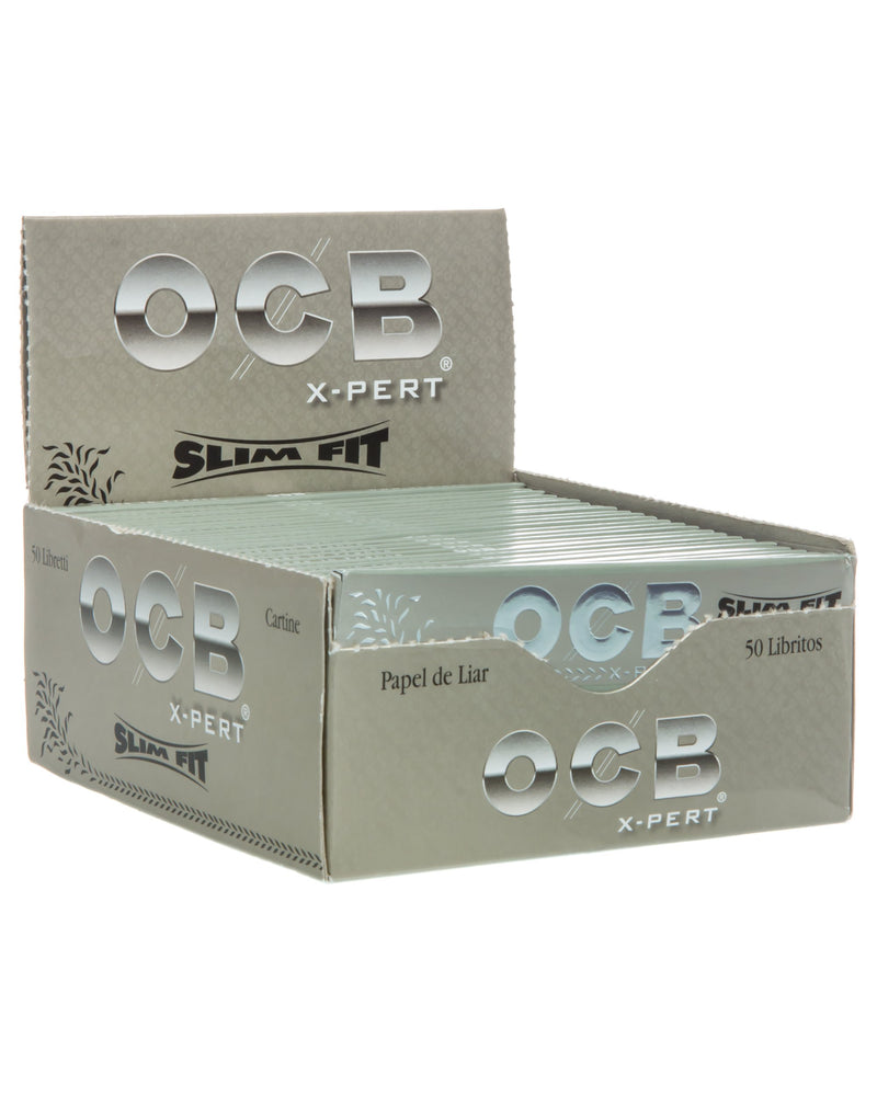 OCB X-Pert Extra Long Slim Rolling Paper (Box of 50 Booklets) - DabShack Distribution