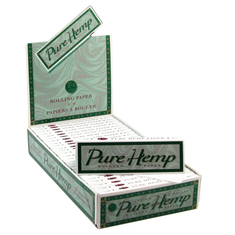 Pure Hemp 1 1/4 Rolling Paper (Box of 25) - The Dab Shack