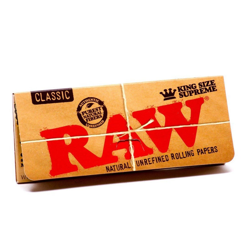 Raw Classic Supreme King-Size Slim Rolling Paper (Box of 24) - DabShack Distribution