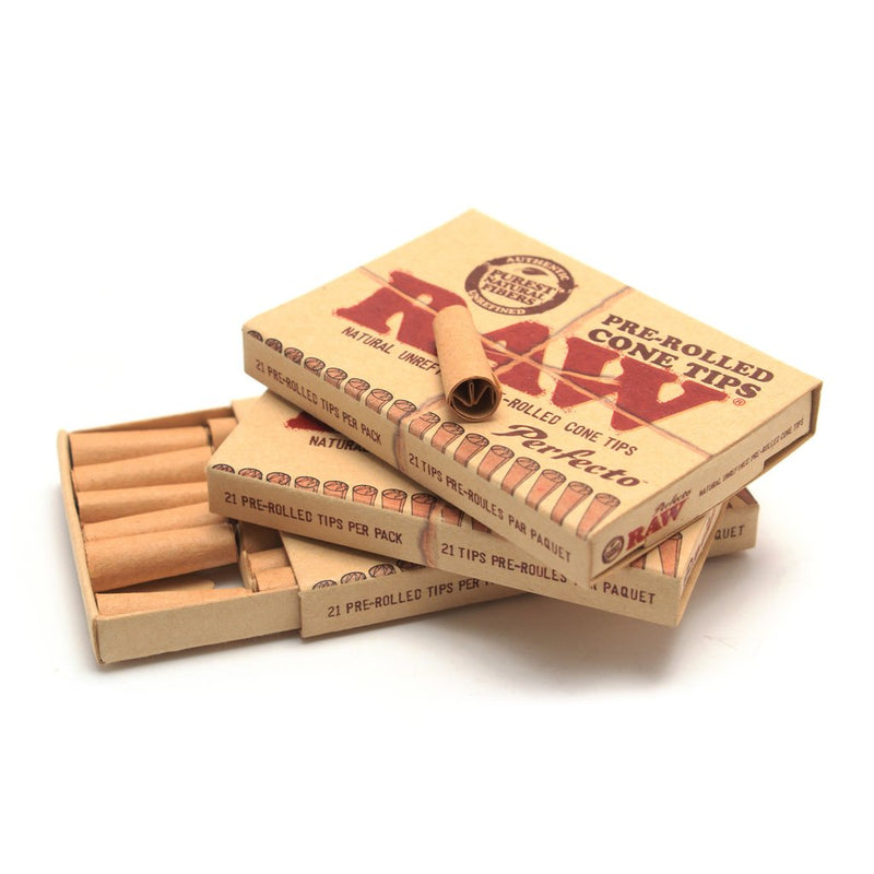 Raw Pre-Rolled Cone Tips (Box of 20) - The Dab Shack