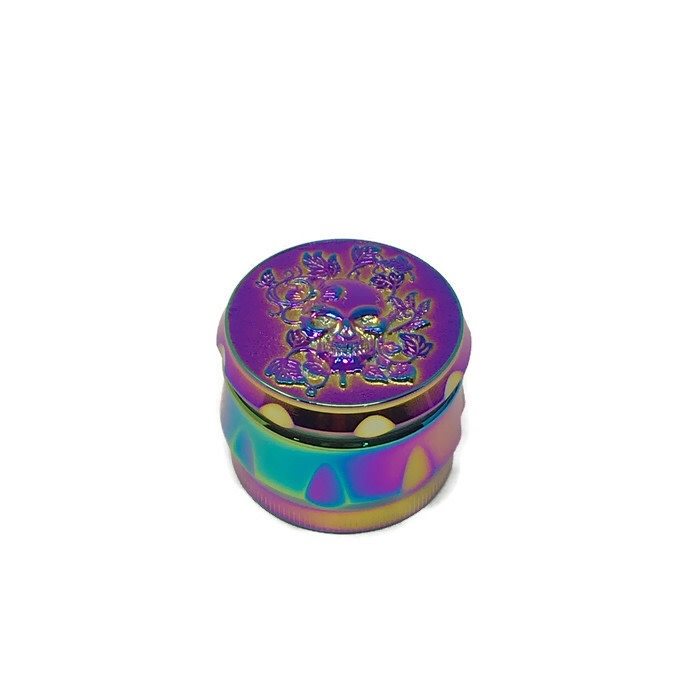 Grinder 4-Part Diamond Teeth 3D Multicolour Skull Large (Box of 6) - The Dab Shack