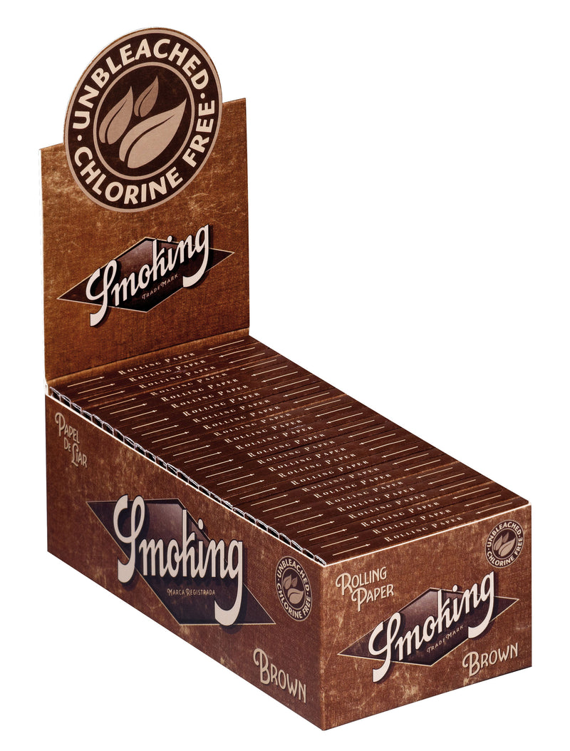 Smoking Brown Double Window - Rolling Paper (Box of 25) - DabShack Distribution