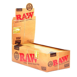 Raw Classic Single Wide Rolling Paper (Box of 50 Booklets) - The Dab Shack