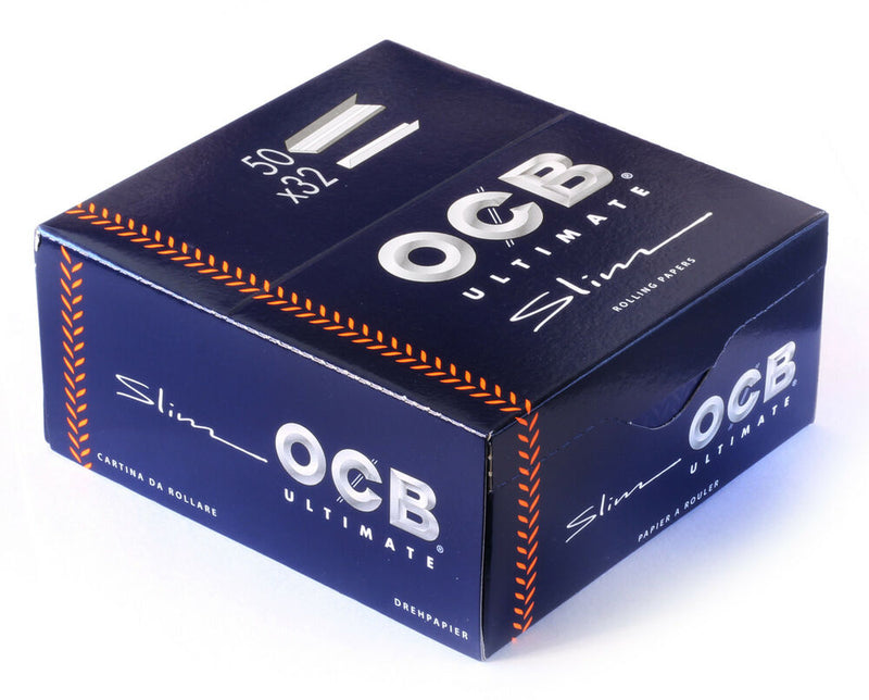 OCB Ultimate Slim Rolling Paper (Box 50 Booklets) - The Dab Shack