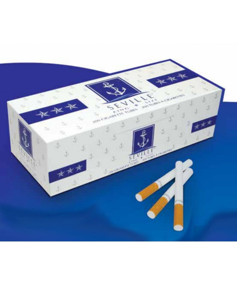 Seville King Size 200 Cigarette tubes (Box of 5) - DabShack Distribution