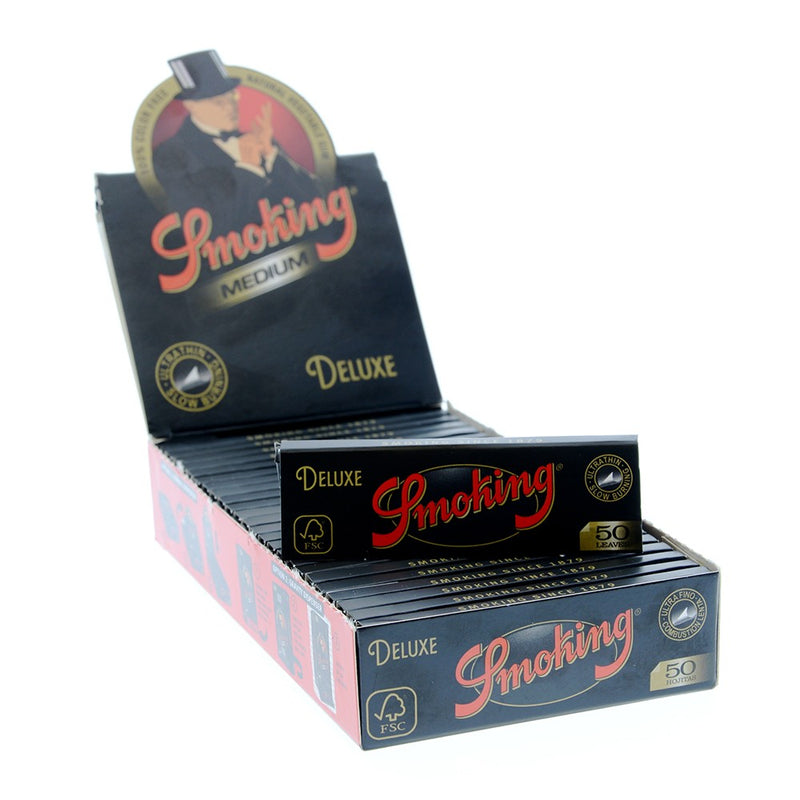 Smoking Black 1 1/4 - Rolling Paper (Box of 25) - DabShack Distribution