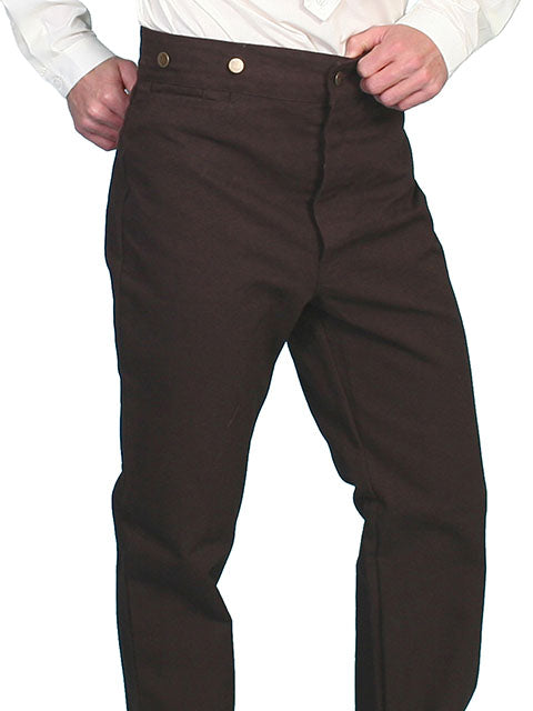 SCULLY - Durable 100% Cotton Canvas Walnut Pants #RW040