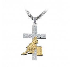 MONTANA SILVERSMITHS - Barrel Racer Cross Necklace #NC45