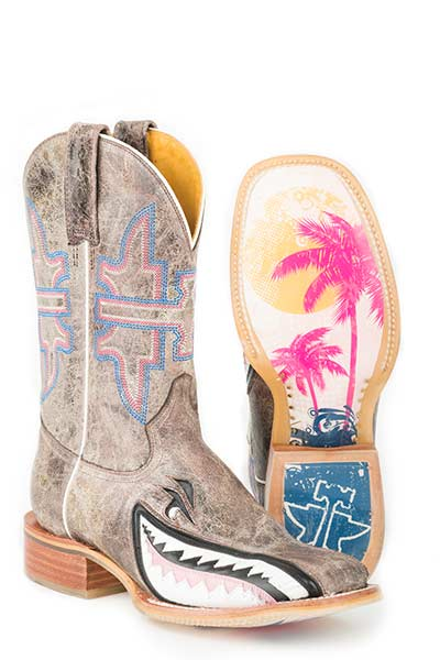 TIN HAUL - Women's Gnarly Pink Shark/Man Eater Sole Boots #14-021-0007-0114