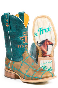 TIN HAUL - Women's Barbed Wire/Wild & Free Sole Boots #14-021-0007-0191