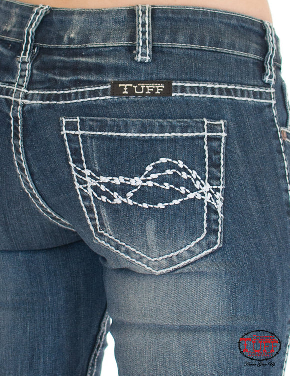 COWGIRL TUFF - Women's Edgy Jeans #C01-JEDGYJ-MWH