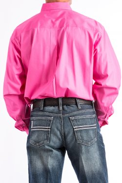 099e9276845 ... CINCH - MENS SOLID PINK BUTTON-DOWN WESTERN SHIRT #MTW1103320 ...