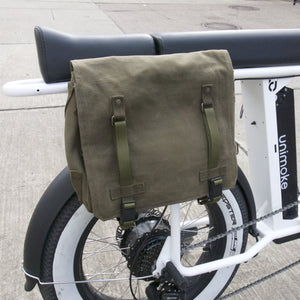 Side Bag Pannier Fabric Olive Green E-Bike Storage
