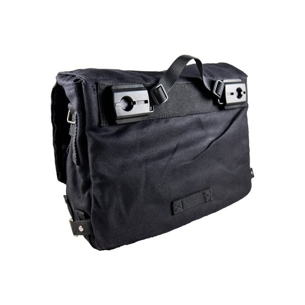 Pannier Bag black Deattachable Fabric