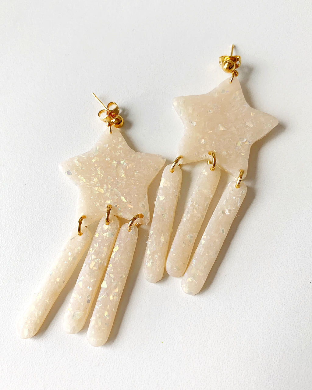 Handmade Star Chandelier Earrings