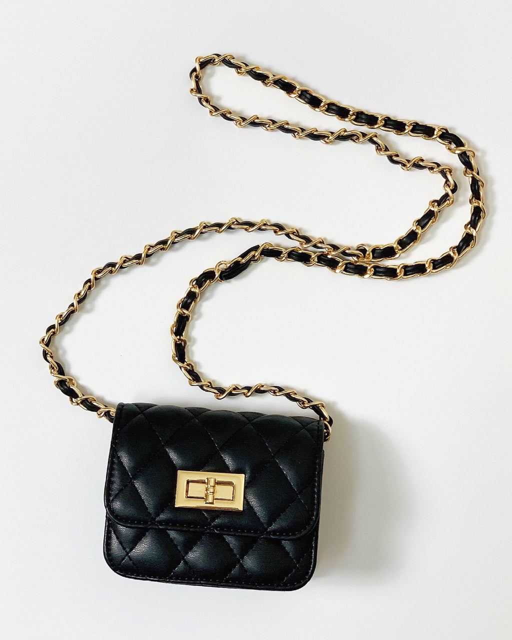 Quilted Faux Leather Mini Clutch