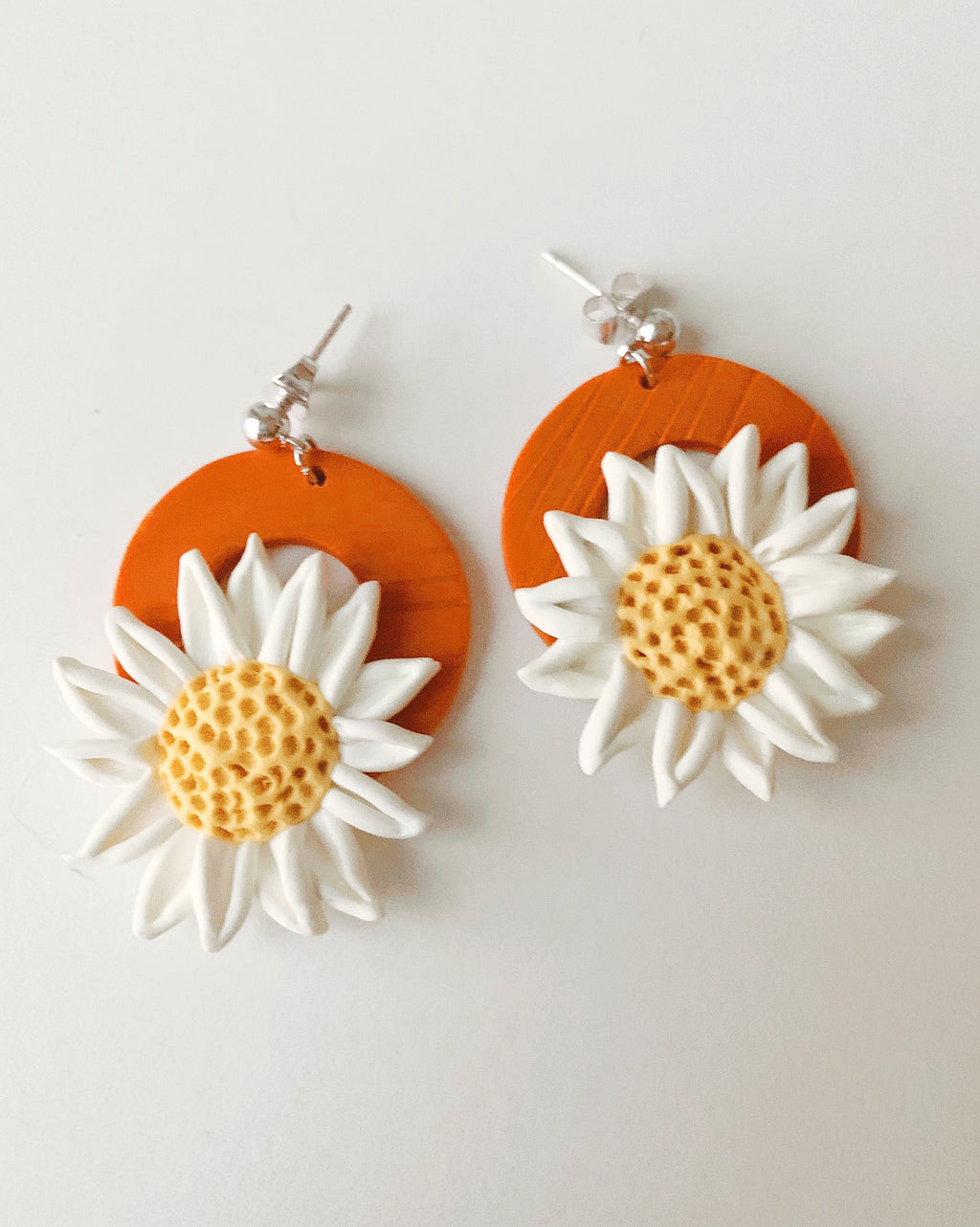 Handmade Daisy Drop Earrings
