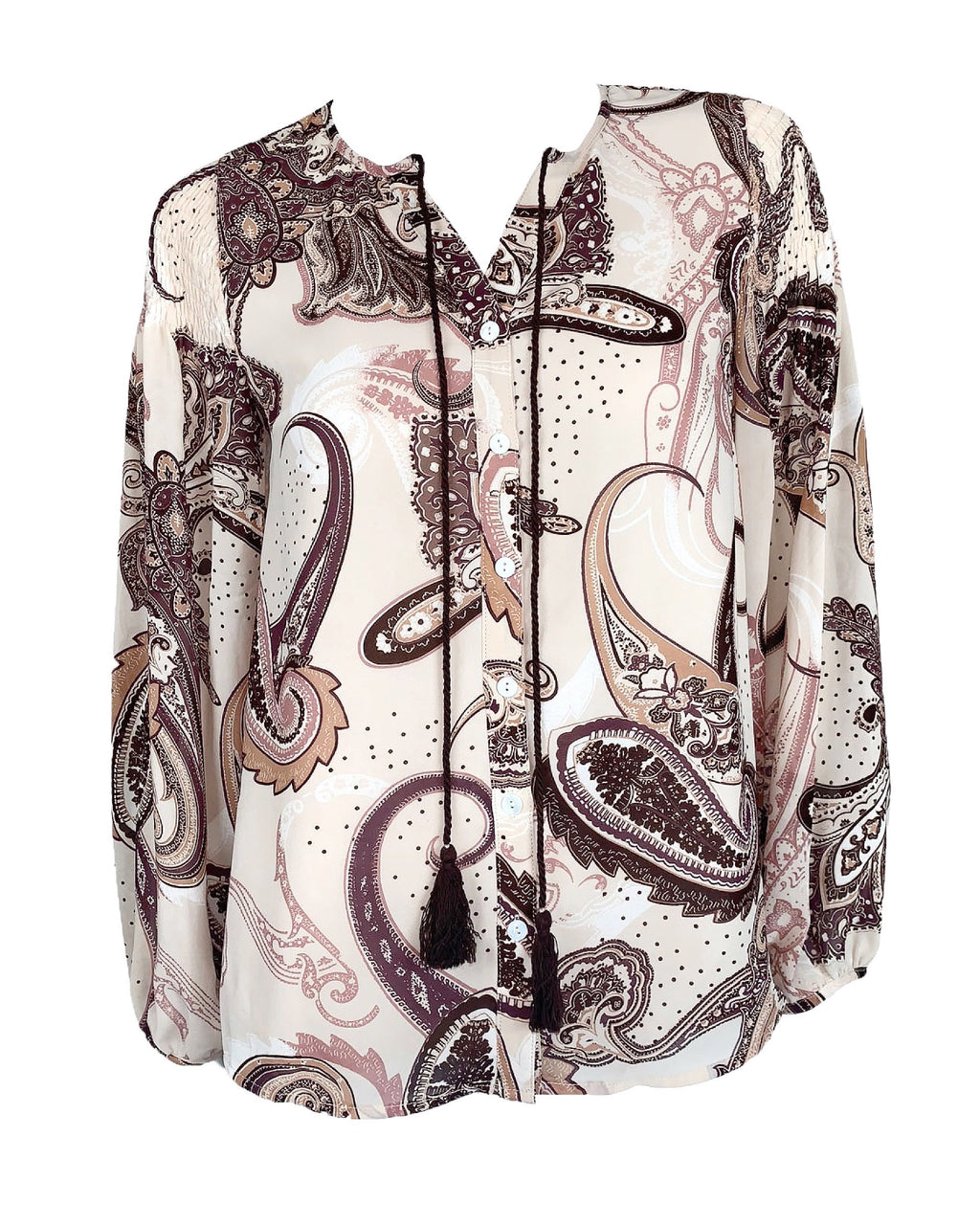 Paisley Print Button Down Shirt