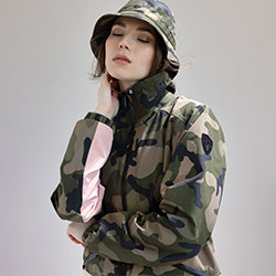 Women's Camo Bomber Jacket