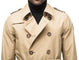 Men's thigh length trench coat with removable belt in Cork | color