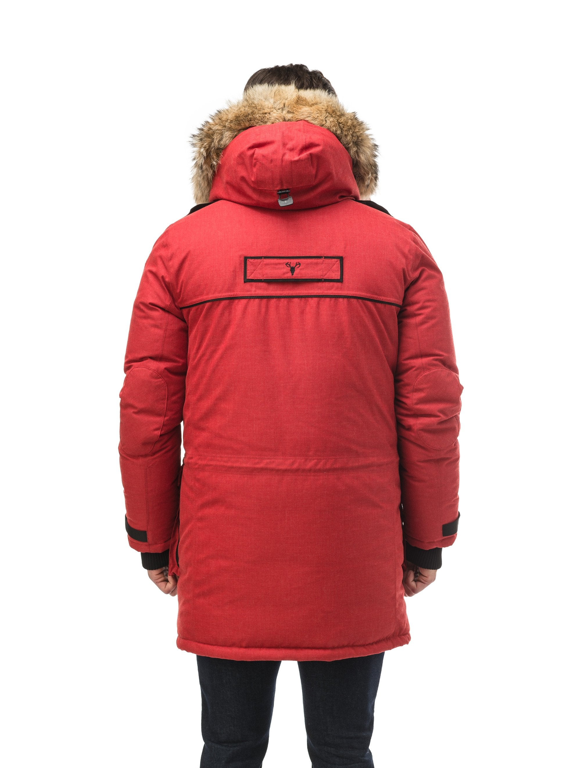 Men's extreme wamrth down filled parka with baffle box construction for even down distribution in H. Red | color