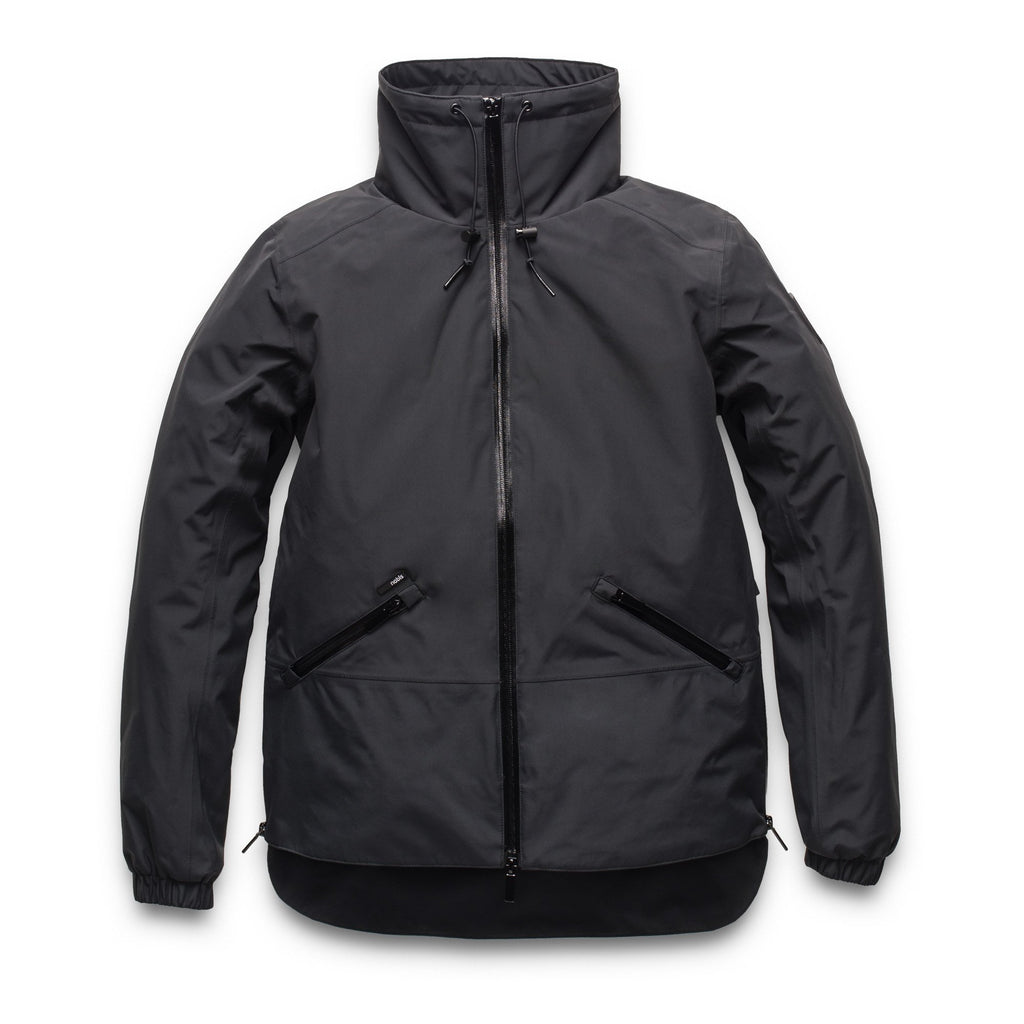 Leah waist length women's jacket in Black | color