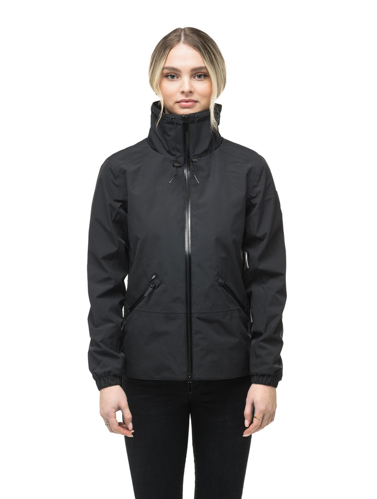 Leah waist length women's jacket in Black| color