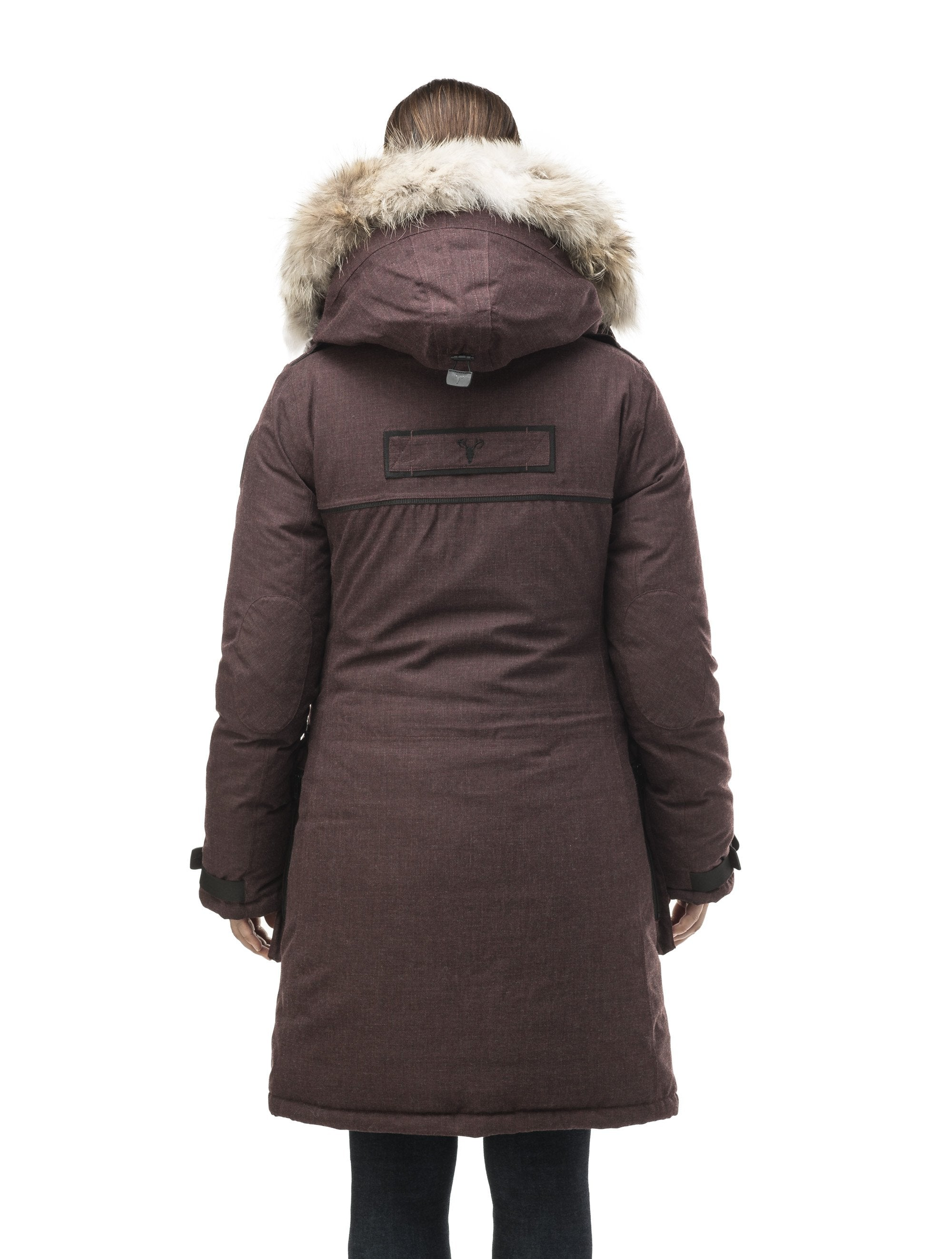 Women's extreme parka with our highest down filling and a removable down filled hood in H. Burgundy | color