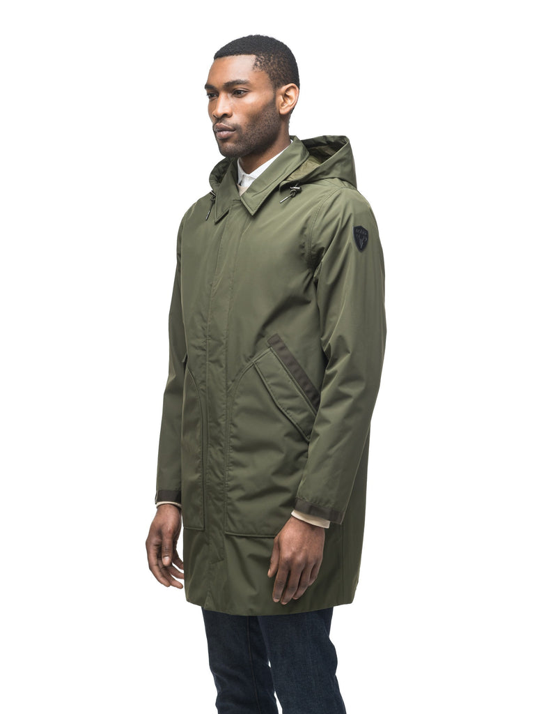 Men's knee length car coat in Fatigue| color