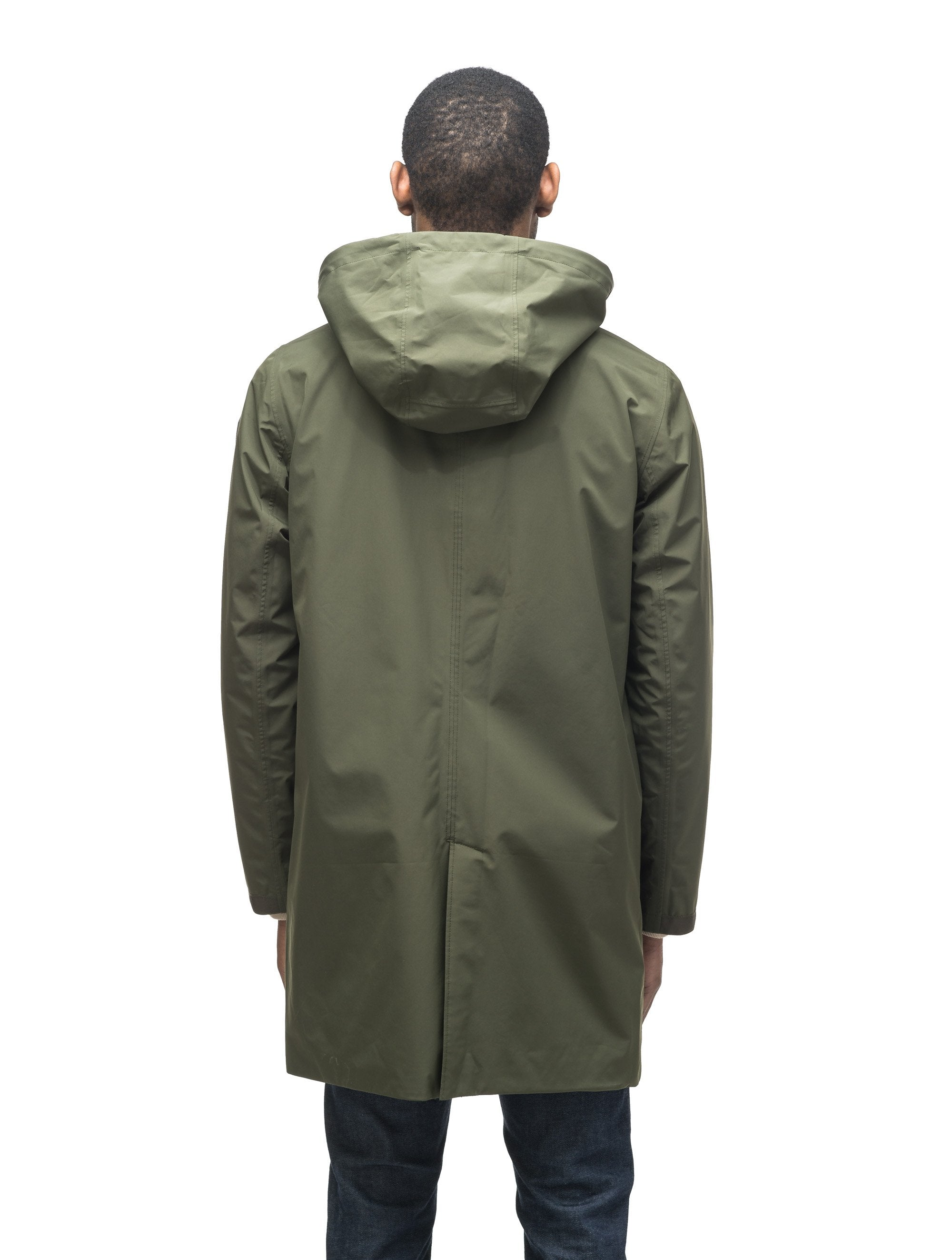 Men's knee length car coat in Fatigue, Marine, or Cork | color