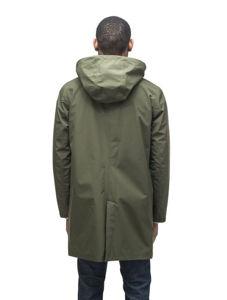 Men's knee length car coat in Fatigue, Marine, or Cork| color