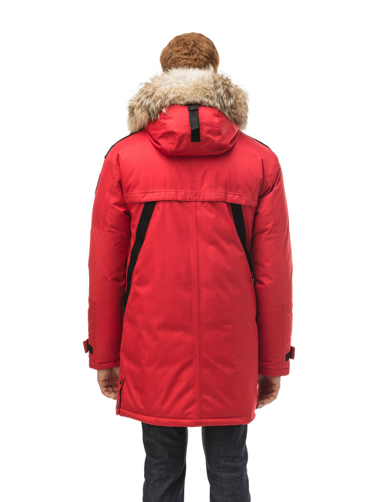 Men's Best Selling Parka the Yatesy is a down filled jacket with a zipper closure and magnetic placket in CH Red| color
