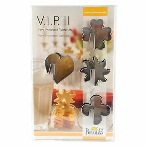 Birkmann Cookie Cutters VIP II, 4-Pc Stainless Steel 4.5cm