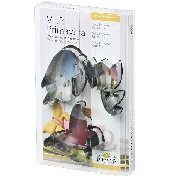 Birkmann Cookie Cutters Primavera, 3-Pc Stainless Steel 7.5cm