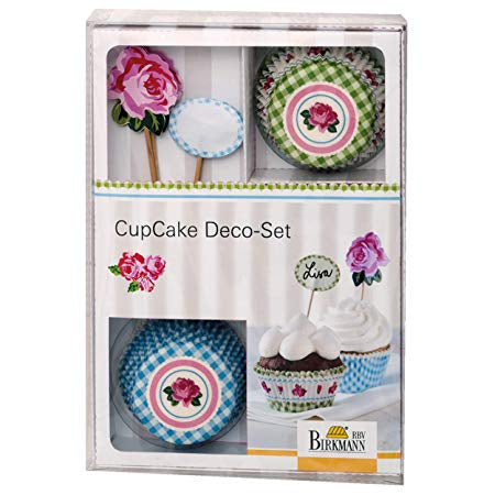 Birkmann Cupcake Deco Set, Rose (36-Pcs)