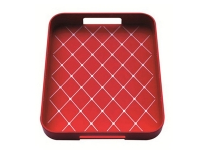 Zak! 33x26cm Non Skid Tray, Red/White