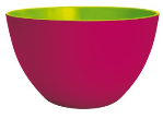 Zak! Duo Salad Bowl 22cm, Raspberry/Green