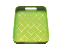 Zak! 33x26cm Non Skid Tray, Green/White