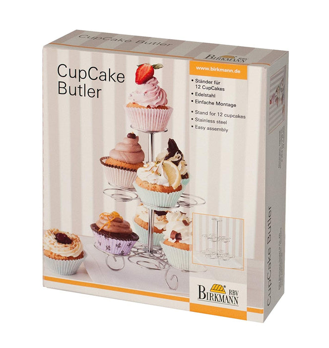 Birkmann Cupcake Stand for 12 Cupcakes (Stainless Steel)
