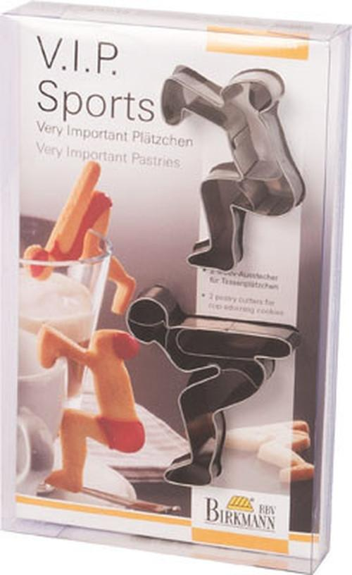 Birkmann Cookie Cutters Sports, 2-Pc Stainless Steel 7.5 - 8cm
