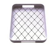 Zak! 33x26cm Non Skid Tray, White/Black