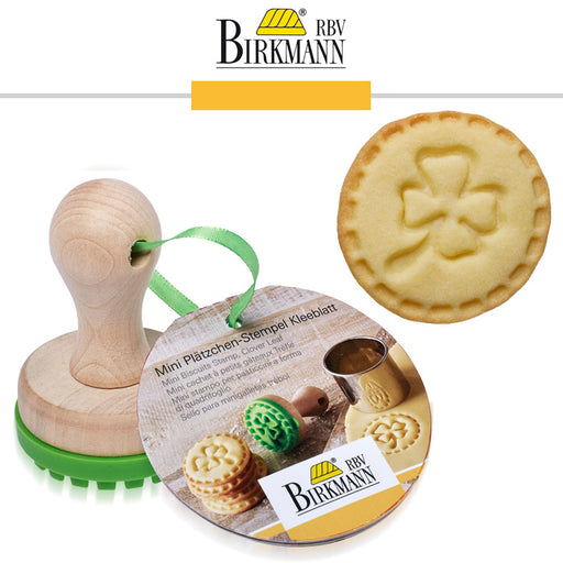 Birkmann Mini Cookie Stamp, Clover