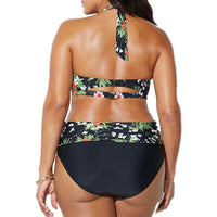 Voluptuous Halter/High Waist Print Bikini Set
