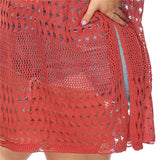 Voluptuous Red Knit Cover Up