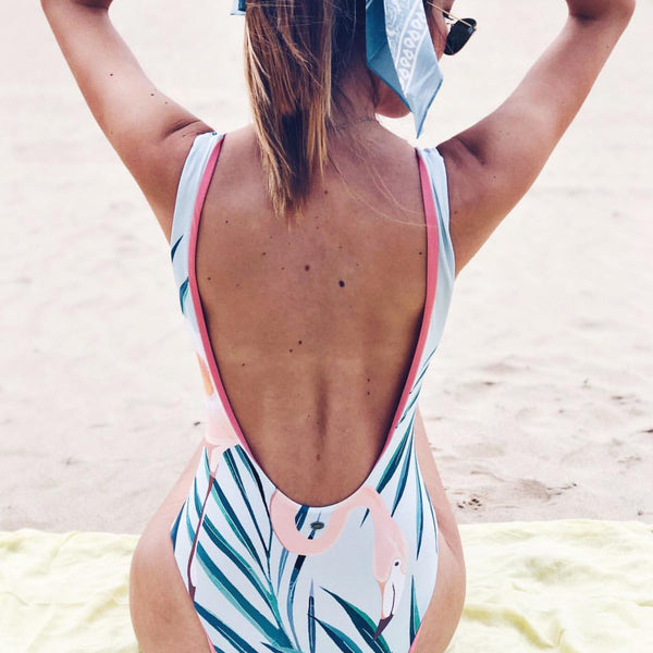 Flamingo Print One Piece