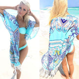 One Size Kaftan Tassled Cover Up