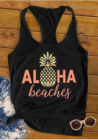 Aloha Beaches Pineapple Tank